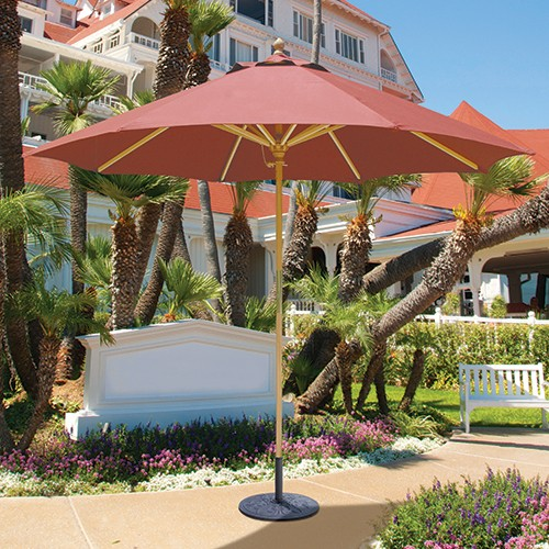 9' Light Wood Market Umbrella