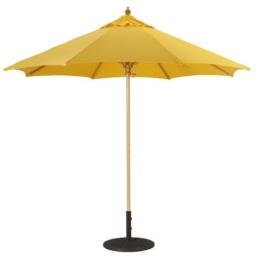 9' Commercial Quality Wood Market Umbrella