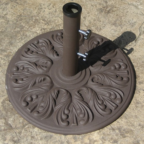 40lb Euro Style Cast Umbrella Base - Antique Bronze Color