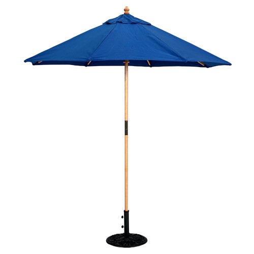 7 Foot Wood Market Umbrella - Light Wood