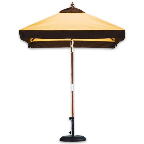 6 foot wood market umbrellas