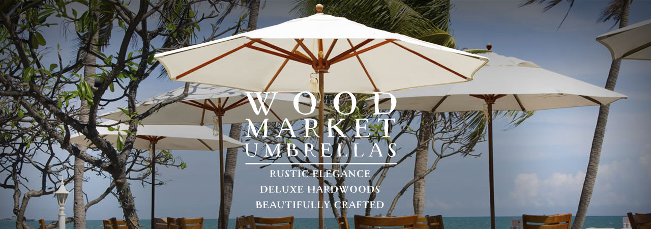 wood patio umbrellas